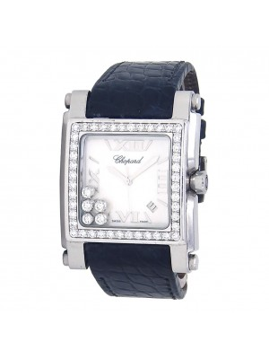 Chopard Happy Sport Square Stainless Steel Swiss Quartz Ladies Watch 288448-2001
