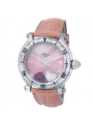 Chopard Happy Heart Stainless Steel Pink Mother of Pearl Watch 288950-3001