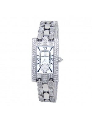 Harry Winston Avenue Classic 18k White Gold Diamond Quartz Ladies Watch 310LQW