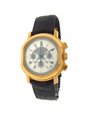 Daniel Roth Masters Chronograph 247.X.40.011.CN.BA Gold Leather Silver Men Watch