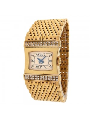 Bedat & Co Lady's Bedat No.33 338.333.809 18k Yellow Gold Quartz Diamonds Beige Ladies Watch