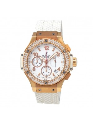Hublot Big Bang 18k Rose Gold Diamonds White Ladies Watch 341.PE.2010.RW.1104
