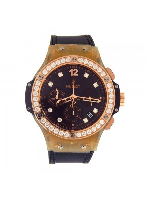 Hublot Big Bang 18K Gold Linen and Composite Automatic Watch 341.XN.1280.NR.1204