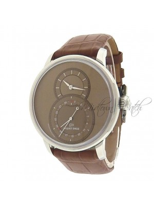 Jaquet Droz Legend Geneva Grande Seconde Quantieme Brown Leather Men's Watch