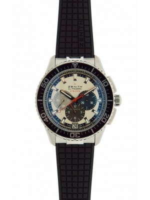 Zenith El Primero Stratos Flyback 03.2066.405/69.R515 Steel Case Mens Watch