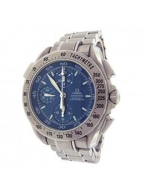 Omega Speedmaster Split-Seconds 3540.80.00 Stainless Steel Chronograph Automatic Blue Men's Watch