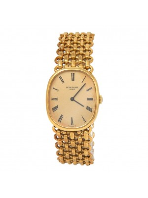 Patek Philippe Ellipse 18k Yellow Gold Manual Ladies Watch 3648