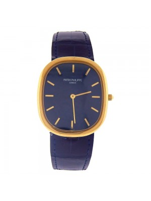 Patek Philippe Golden Ellipse 18k Yellow Gold Automatic Mens Watch 3738/100J-012