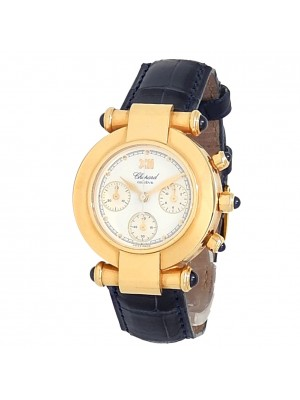 Chopard Imperiale Chronograph 18k Yellow Gold White Ladies Watch 38/3157-23
