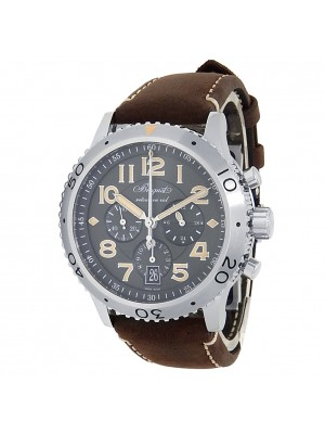 Breguet Type XXI Flyback Stainless Steel Auto Grey Men's Watch 3817ST/X2/3ZU