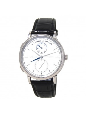 A.Lange & Sohne Saxonia Dual Time 18k White Gold Automatic Men's Watch 385.026