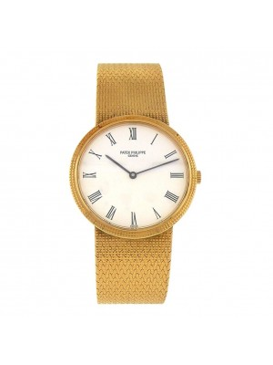 Patek Philippe Calatrava 18k Yellow Gold Quartz Ladies Watch 3954