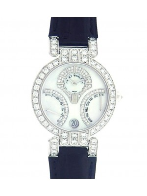 Harry Winston Premier Excenter 200/UAB134/WL.MD Diamonds Mother Of Pearl Watch