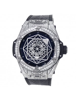 Hublot Big Bang Sand Bleu Titanium Diamond Black Watch 415.NX.1112.VR.1704.MXM17