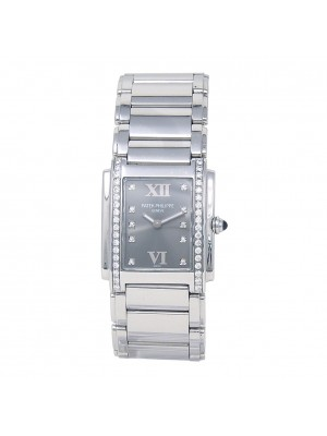 Patek Philippe Twenty 4 Stainless Steel Swiss Quartz Ladies Watch 4910/10A-010