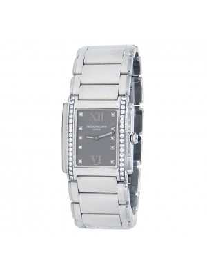Patek Philippe Twenty 4 Stainless Steel Diamond Quartz Ladies Watch 4910/10A-010