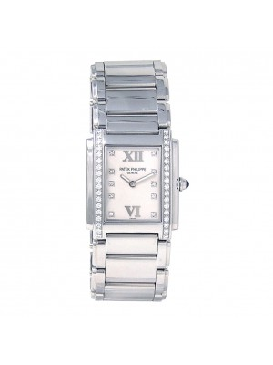 Patek Philippe Twenty-4 Stainless Steel Swiss Quartz Ladies Watch 4910/10A-011