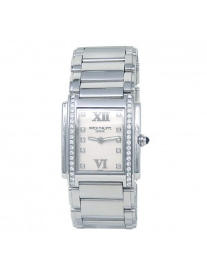 Patek Philippe Twenty-4 Diamond Stainless Steel Watch Quartz 4910/10A-011