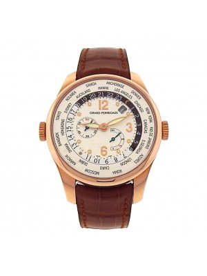 Girard Perregaux WW.TC Financial World Time 49850-52-152-BACA 18k Men's Watch