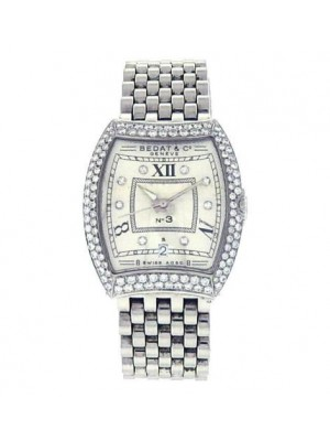 Bedat & Co No.3 314.031.109 Stainless Steel Diamonds Bezel White Ladies Watch