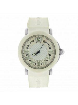 Gerald Genta Retro Sport RSP.L.10 White Rubber Jumping Hour S.Steel Watch