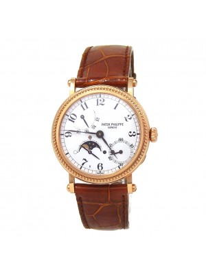 Patek Philippe Complications Power Reserve Moon Phase Rose Gold Automatic 5015