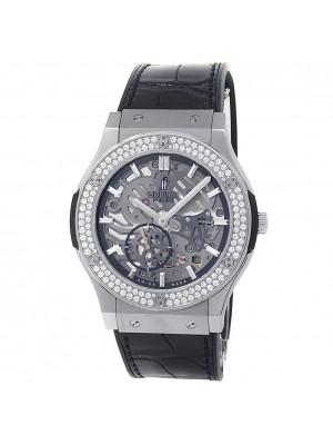 Hublot Classic Fusion Ultra Thin Titanium Skeleton Men Watch 515.NX.0170.LR.1104