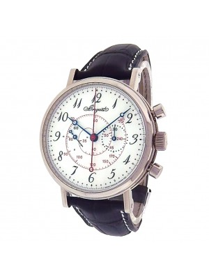 Breguet Classique 5247 White Gold Chronograph Leather Automatic White Men Watch