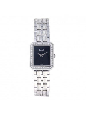 Piaget Protocole 18k White Gold Swiss Quartz Diamond Ladies Watch 5355 M601D