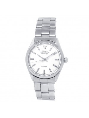 Rolex Vintage Air-King Stainless Steel Oyster Automatic White Men's Watch 5500