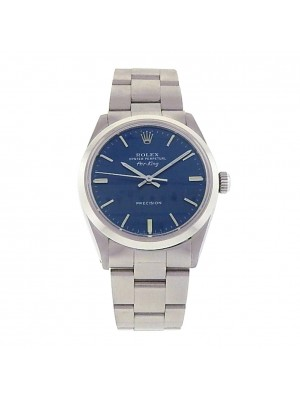 Rolex Air-King 5500 Stainless Steel Automatic Oyster Blue Men's Watch