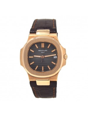 Patek Philippe Nautilus 18k Rose Gold Automatic Men's Watch 5711R