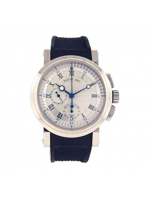 Breguet Marine Chronograph 18K White Gold Automatic Chronograph Men's Watch 5827