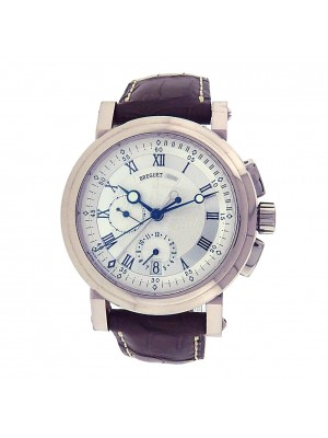 Breguet Marine Chronograph 5827 18k White Gold Automatic Silver Men's Watch