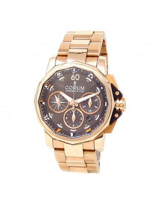 Corum Admiral's Cup 18k Rose Gold Automatic Brown Men's Watch 60723.205005