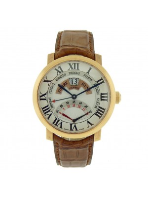Pierre Kunz Challenge PKG009GD 18K Rose Gold Retrograde Big Day Date Mens Watch
