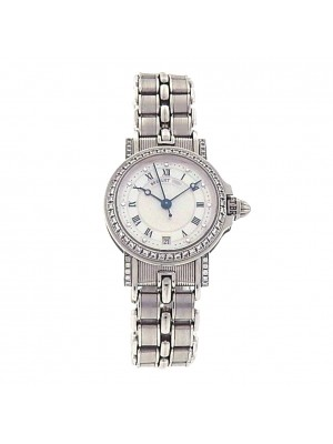 Breguet Classique 18k White Gold Automatic Diamonds Mother of Pearl Ladies Watch