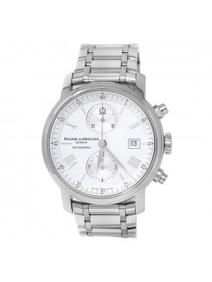Baume & Mercier Classima XL Stainless Steel Automatic White Men's Watch 65591