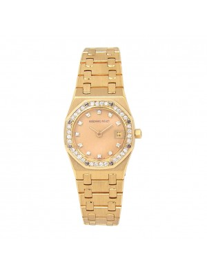 Audemars Piguet Royal Oak 18k Yellow Gold Quartz Ladies Watch 66319BAZZ0722BA.01