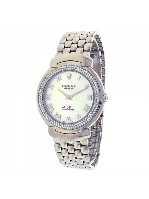 Rolex Cellini Cellissma 6681.9.0222 18k Gold Quartz Diamonds Ladies Watch