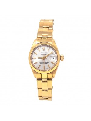 Rolex Datejust 18k Yellow Gold Date Display Automatic Ladies Watch 6916