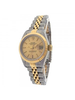 Rolex Datejust 69173 Stainless Steel Gold Automatic Champagne Ladies Watch