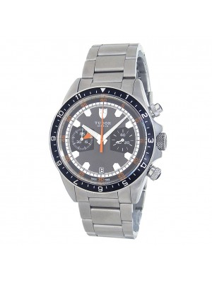 Tudor Heritage Stainless Steel Chronograph Automatic Grey Men's Watch 70330N