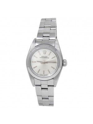Rolex Oyster Perpetual Stainless Steel Oyster Auto Silver Ladies Watch 76080