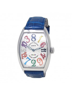 Franck Muller Crazy Hours Color Dreams Stainless Steel Automatic Watch 7851 CH