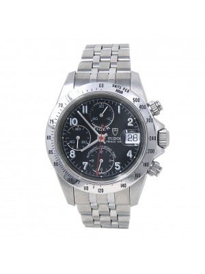 Tudor Tiger Prince Date Stainless Steel Automatic Black Men's Watch 79280