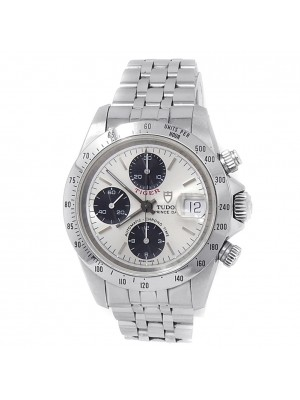 Tudor Tiger Prince Date Stainless Steel Chronograph Auto Silver Mens Watch 79280