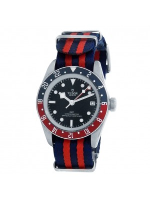 Tudor Black Bay GMT Stainless Steel Canvas Automatic Black Men's Watch 79830