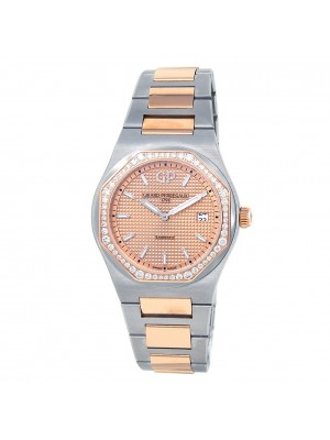 Girard Perregaux Laureato 18k Rose Gold Steel Pink Ladies Watch 80189D56A331-56A