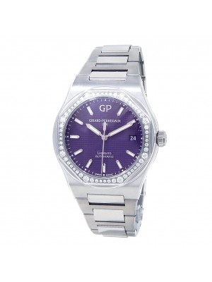 Girard Perregaux Laureato Stainless Steel Purple Ladies Watch 81005D11A182511A